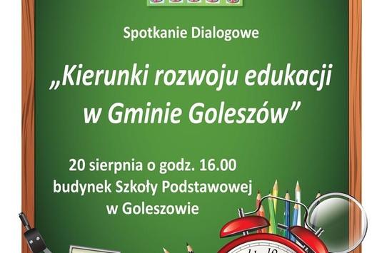 Debata o przyszłości oświaty w Gminie Goleszów- 20 sierpień 2017