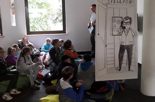 """Klasa IV na wystawie """"1989. Rok Wolności"""" w Zamku Cieszyn"""