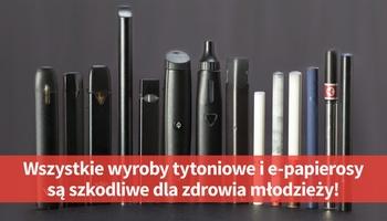 Informacja  na temat potencjalnych zagrożeń związanych ze stosowaniem elektronicznych papierosów